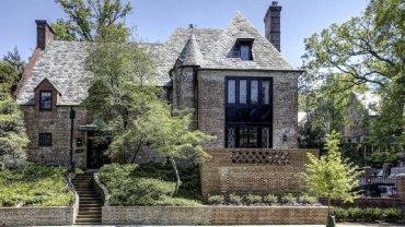 La residencia en la que vivirán los Obama en Belmont Road del barrio de Kalorama en Washington DC