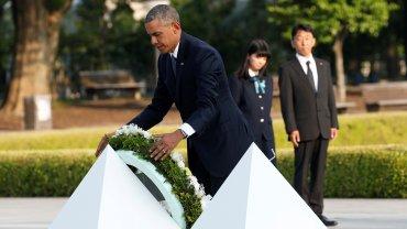 Barack Obama homenajeó a las víctimas de la bomba nuclear