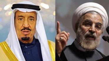 El rey Salmán bin Abdulaziz de Arabia Saudita, y Hasan Rohani de Irán