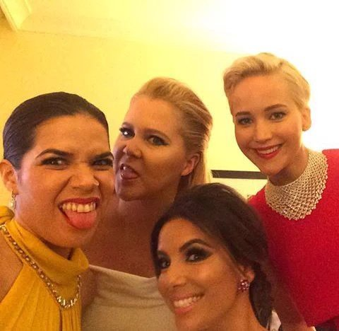 La primera selfie de los Globos de Oro