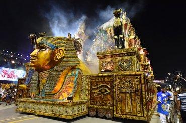 La scola Aguia de Ouro realizó un homenaje al antiguo Egipto