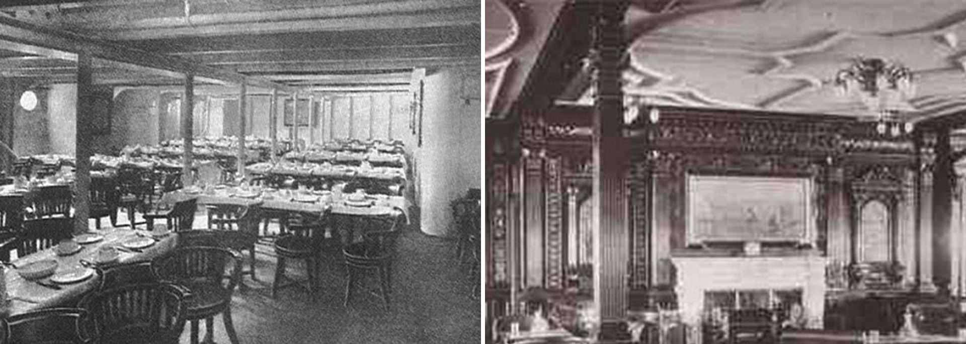 La sala de fumadores de primera clase. Tal como era a comienzos de siglo XX y la proyectada en el render de Blue Star Line
