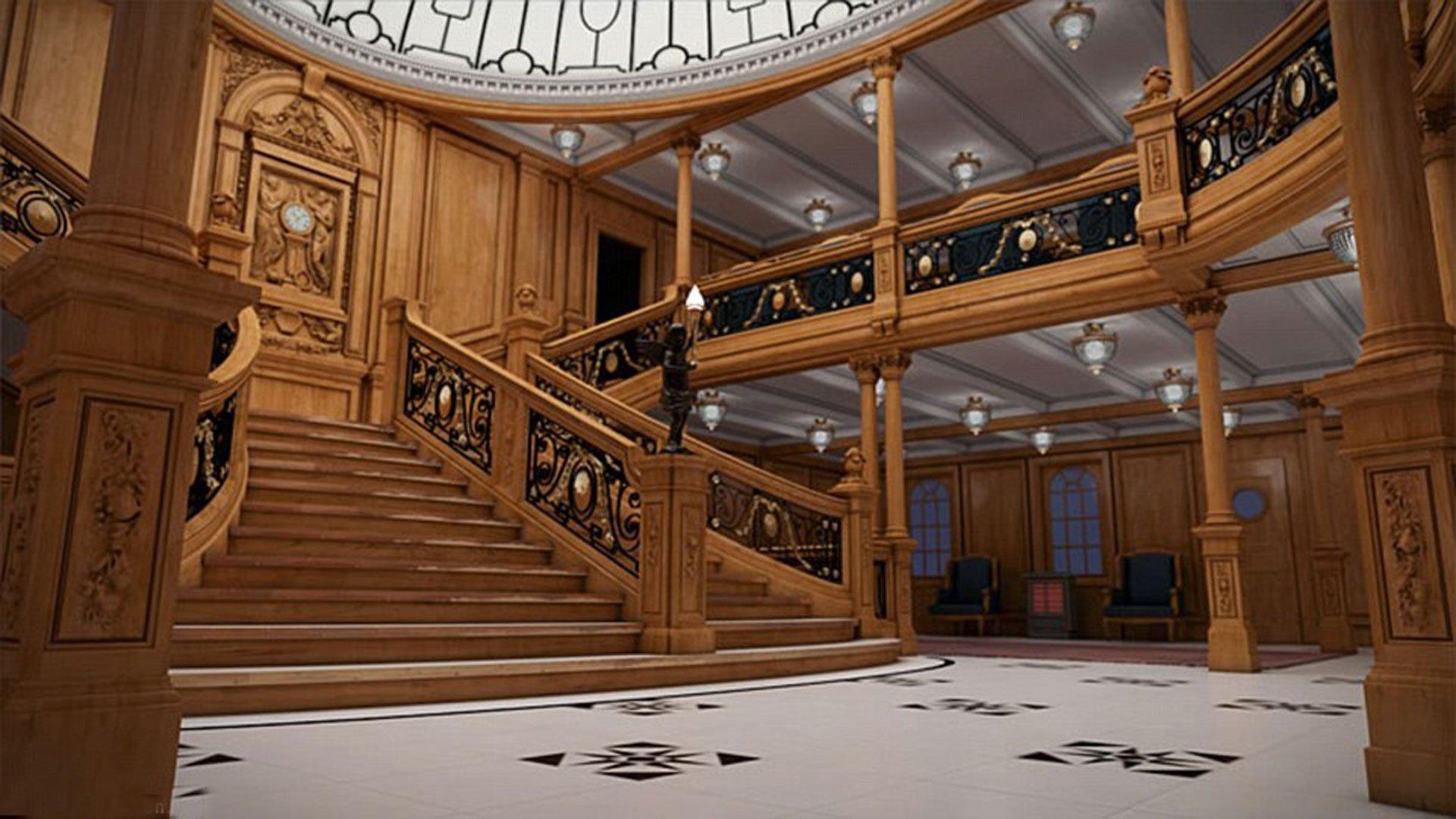 Otro ángulo de la escalinata principal del Titanic II