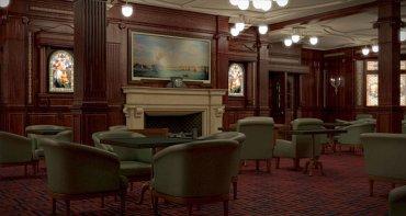 Otra de las salas exclusivas para los pasajeros de primera clase