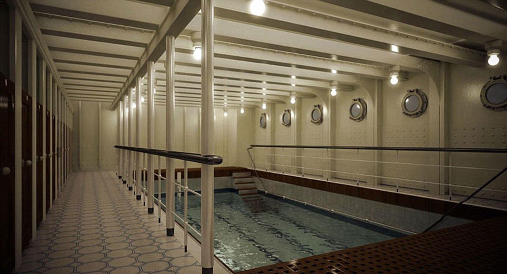 Sólo una piscina interna tendrá el Titanic II, tal como el RMS Titanic. Es una de las grandes diferencias con los cruceros de pasajeros de la actualidad