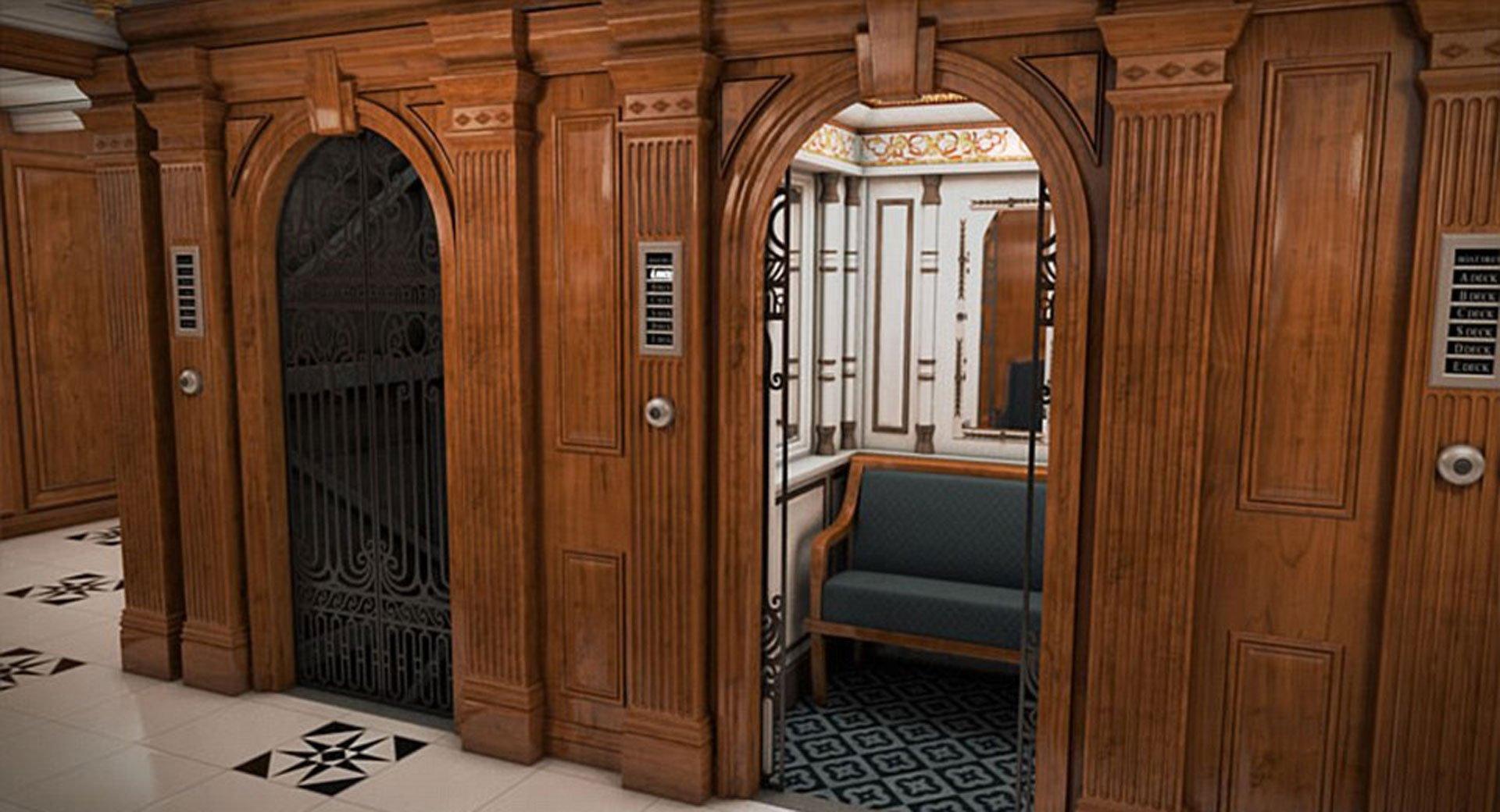 Los pintorescos y señoriales ascensores del Titanic II