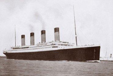 El RMS Titanic que se hundió el 14 de abril de 1912