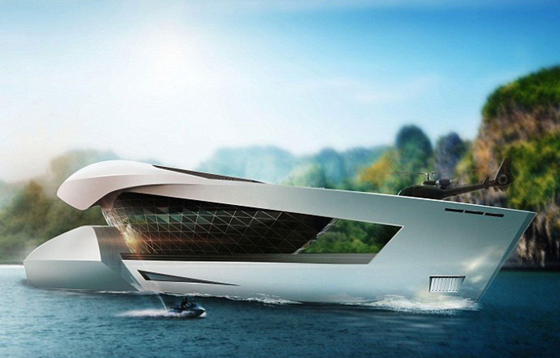 Las imágenes pertenecen al render que realizaron en Sea Level. Permite ver el futurismo que tienen en mente los diseñadores