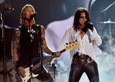 Duff McKagan y Alice Cooper