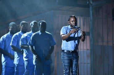 Performance del rapero Kendrick Lamar