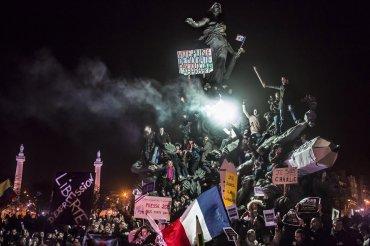 Segundo premio de la categoría Actualidad, Corentin Fohlen. Marcha contra el terrorismo en París