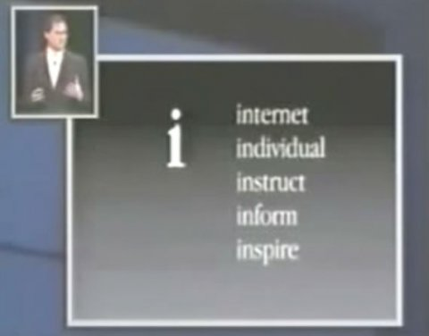 En un evento de Apple en 1998, Steve Jobs describe lo que la