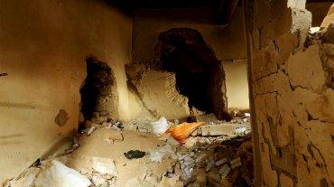 En algunos casos los túneles se iniciaban en las paredes de los edificios.