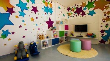 El playground donde los más pequeños disfrutan de los juegos comunes y de la presencia de profesionales. El Instituto Lula admitió la presencia del ex presidente en el edificio Solaris