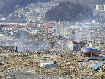 La ciudad de Kesennuma, ubicada en la periferia de Miyagi, completamente destrozada por el tsunami