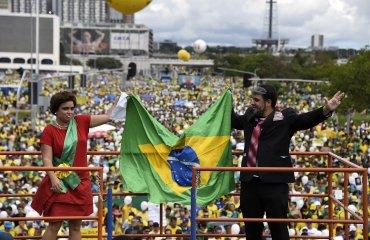 Las masivas manifestaciones tuvieron lugar días después de la presentación de Lula en la Justicia