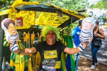 Según la policía local, cerca de 100.000 personas se concentraron en Brasilia