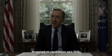 Frank Underwood decide participar de la campaña para su elección.