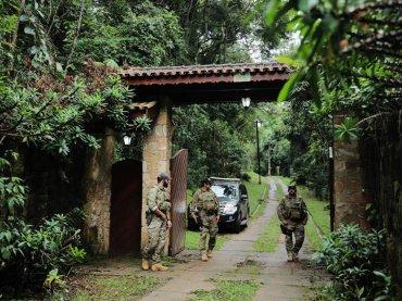 El viernes pasado, la policía federal registró el sitio frecuentado por el ex presidente Lula y su familia en Atibaia, en San Pablo