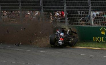 El accidente obligó a ambos pilotos a abandonar la carrera