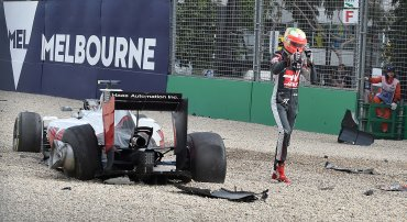 El Haas de Gutiérrez solo ha sufrido daños en una de sus ruedas traseras