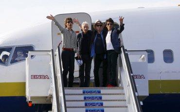 LosRollingStones llegaron a Cuba la tarde del jueves en un vuelo privado.