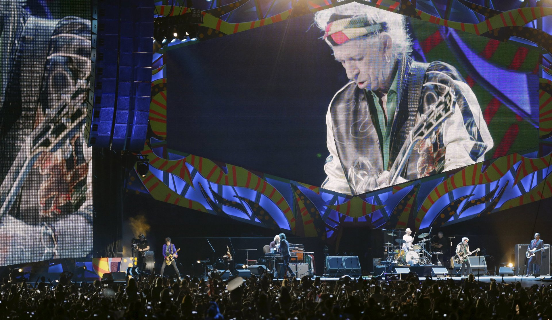 La banda británica tocó por primera vez en Cuba
