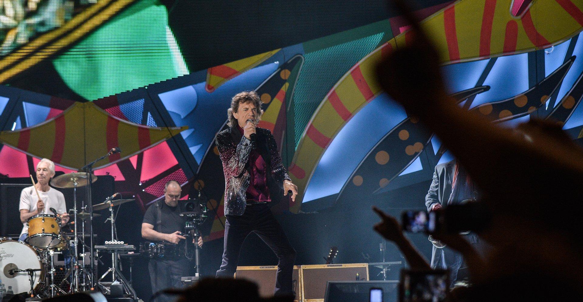 Jagger, Richards, Watts, y Wood arribaron a la isla el jueves por la noche