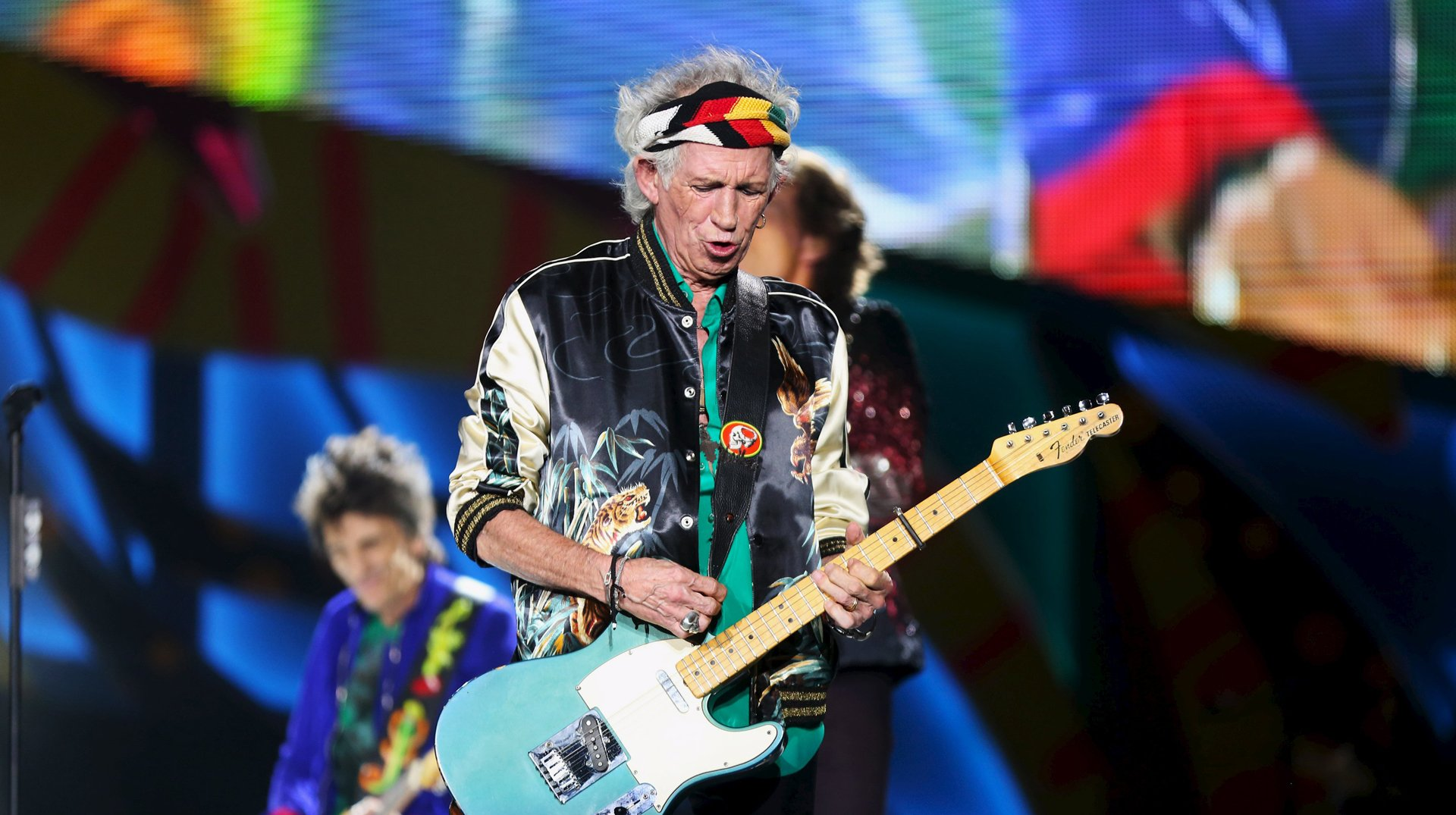 Keith Richards deslumbró con su guitarra