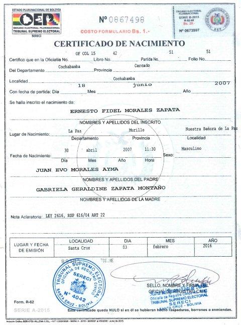 Famoso Cómo Hacer Un Certificado De Nacimiento Friso - Cómo ...