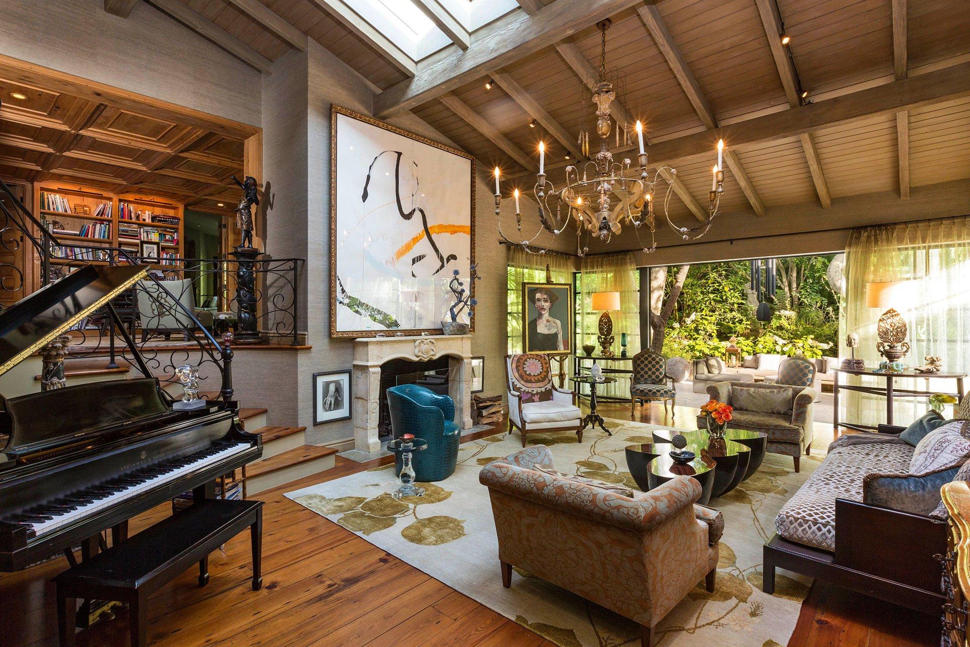 El living room, uno de los lugares más selectos de la vivienda